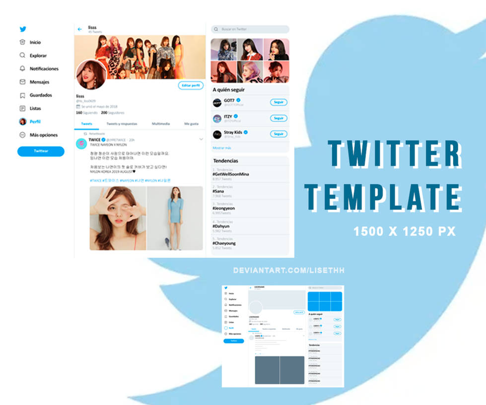 PSD TEMPLATE #O2|TWITTER| by Lisethh on DeviantArt