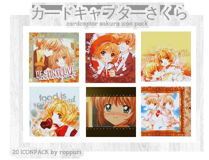 20 Cardcaptor Sakura Icon Pack by roppuri by roppuri