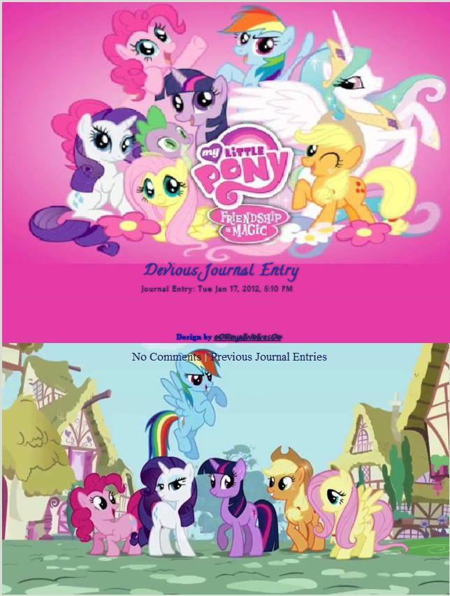 My Little Pony Journal Skin by oORoyalWolvesOo