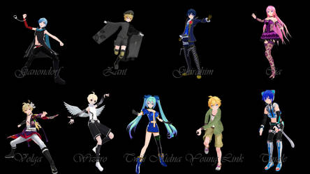 [MMD] Hyrule Warriors pose pack 4 by VioletCrystal259