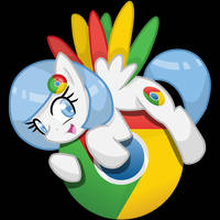 Chrome Mac Pony Icon (.icns file) by ymom11