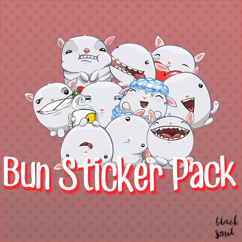 Bun sticker pack png by black soul by gummietastic