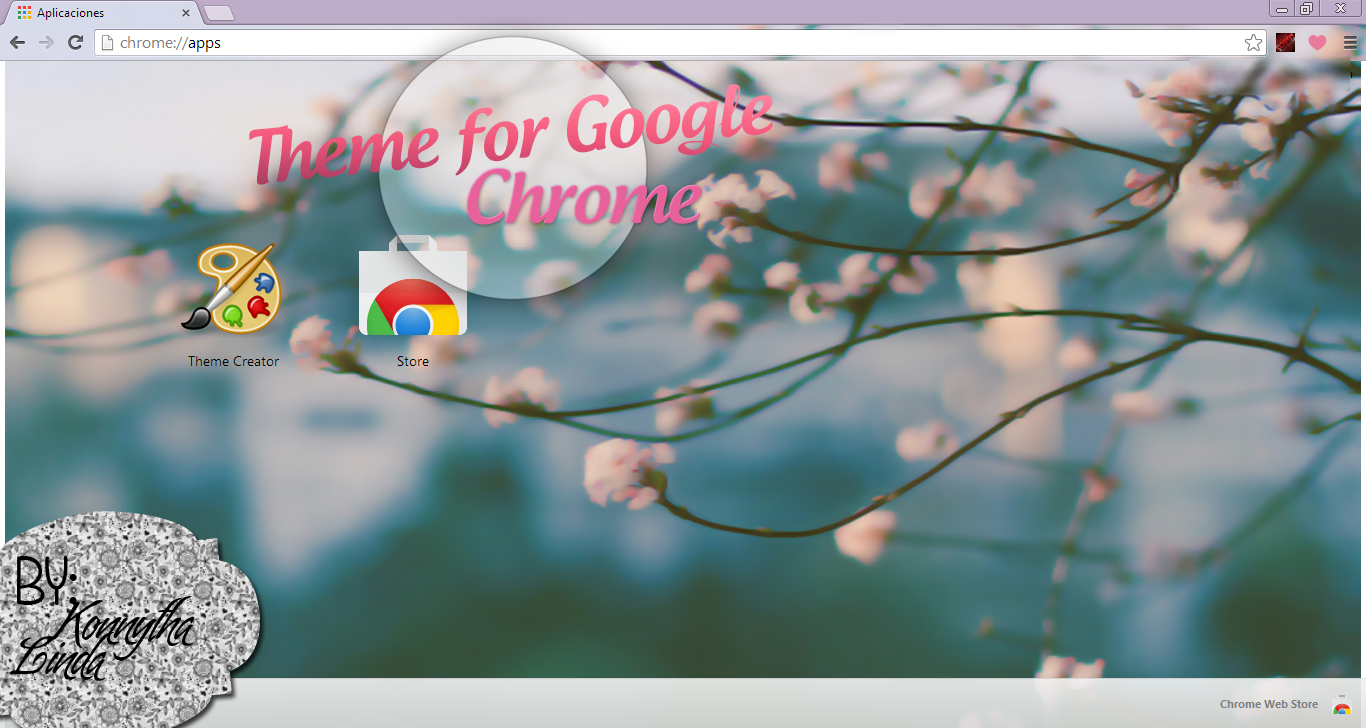 Google chrome themes vintage flowers