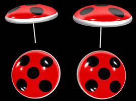 Ladybug's Miraculous Earrings  Download by ShinyLightBulb