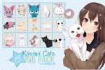 Kawaii Cats PNG PACK