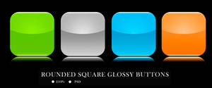 ROUNDED SQUARE GLOSSY BUTTONS