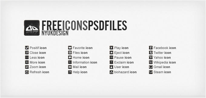 Small website Icons  psd files by nyukdesign