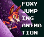 Foxy Jumping from his Curtain