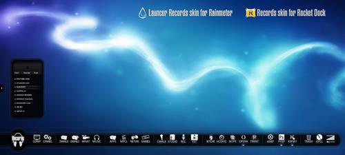 Web Launcer for Rainmeter Skin for RocketDock by Dizntart