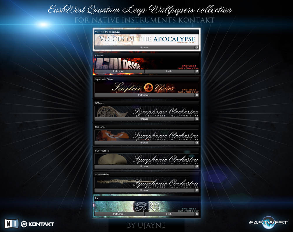 NI Kontakt EWQL Wallpapers collection by Dizntart on DeviantArt