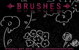 Flower Brushes by classicluv