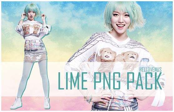Lime Hello Venus png pack