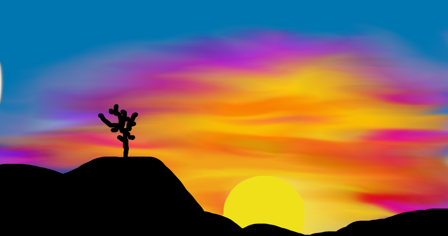 tree's sunset by calistayeoh123