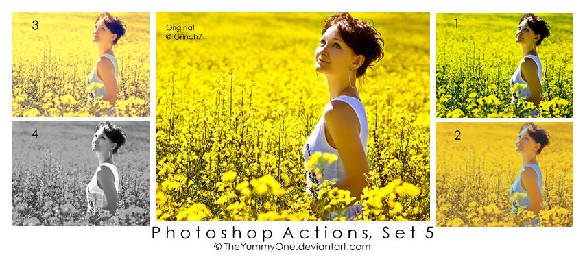 Photoshop Actions, Set 5 by TheYummyOne