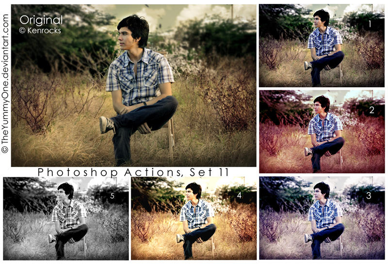 Photoshop Actions, Set 11 by TheYummyOne