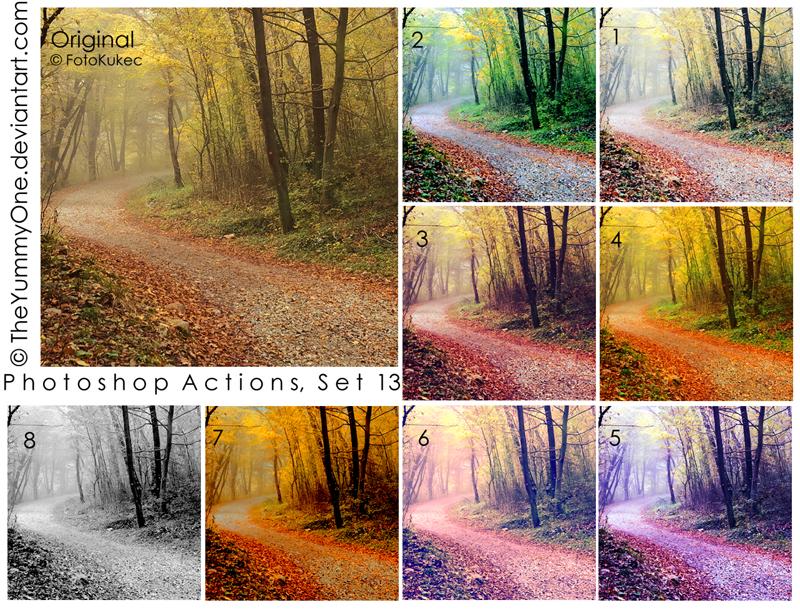 Photoshop Actions, Set 13