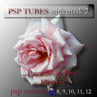psp 7 flowers tubes with mask2 by feniksas4