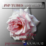 psp 7 flowers tubes with mask2