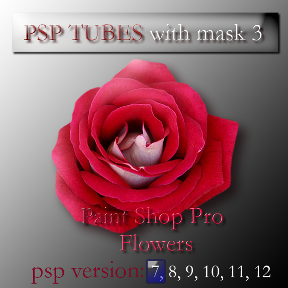 psp 7 flowers tubes with mask3 by feniksas4