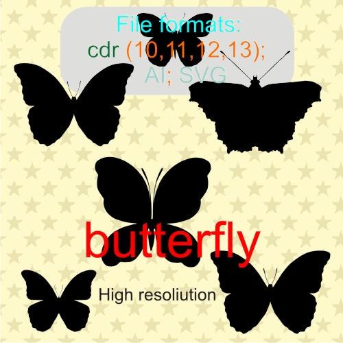 butterfly vectors 3 by feniksas4