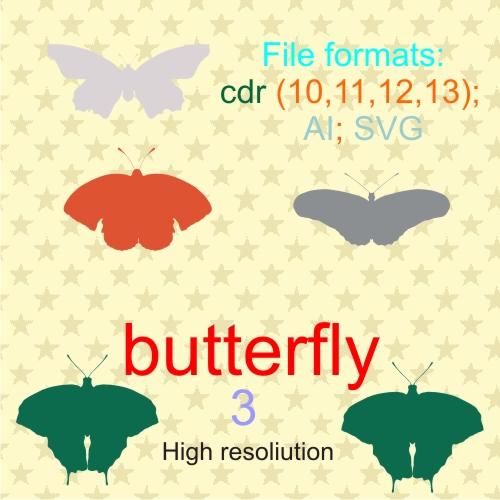 butterfly vectors 3b