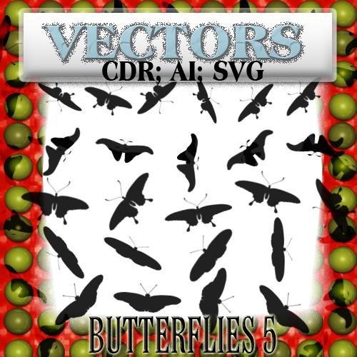 butterflies 5 vectors