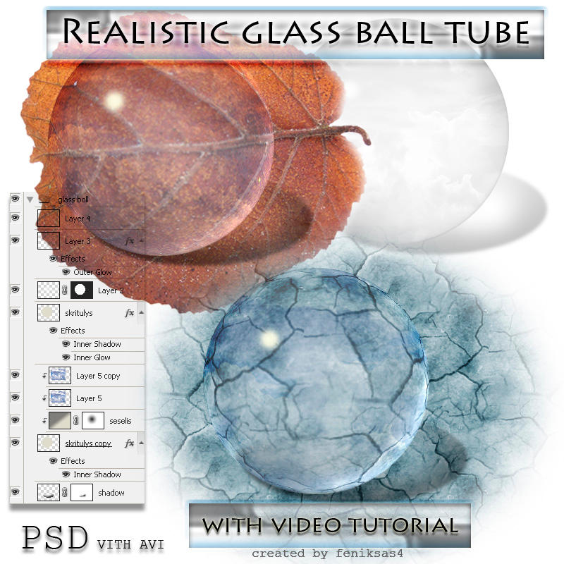 real glass ball psd tube by feniksas4