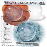 real glass ball psd tube