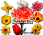 psd flower tubes with mask 9