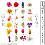 gimp flower brushes set 11