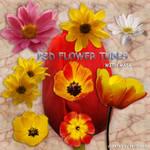 psd flower tubes