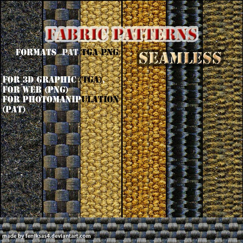 seamless fabric patterns by feniksas4
