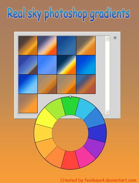 real sky photoshop gradients by feniksas4