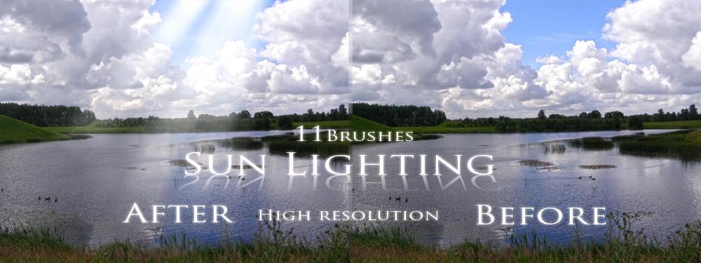 sun lighting brushes by feniksas4