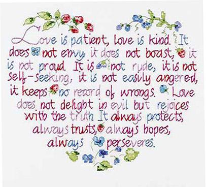 1 corinthians love is kind
