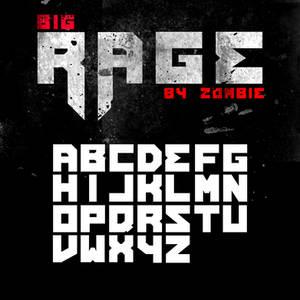 Big Rage font