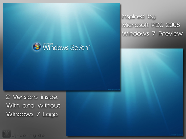 Windows Seven PDC 2008 Preview