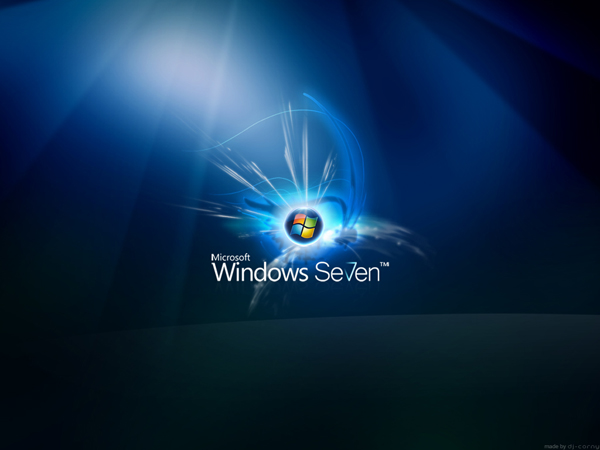 Windows Seven Glow Wallpaper