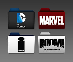 Comic Book Publishers Folders by dominicanjoker