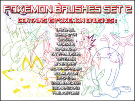 Pokemon Brushes Set 2 by Sweetie-Chan