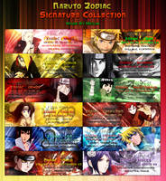 Naruto Zodiac Signatures by Sweetie-Chan