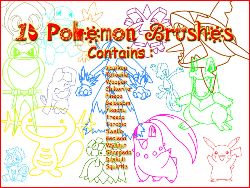 Pokemon Brushes by Sweetie-Chan