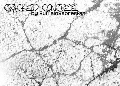 Cracked Concrete for Gimp by buffalosabresfan