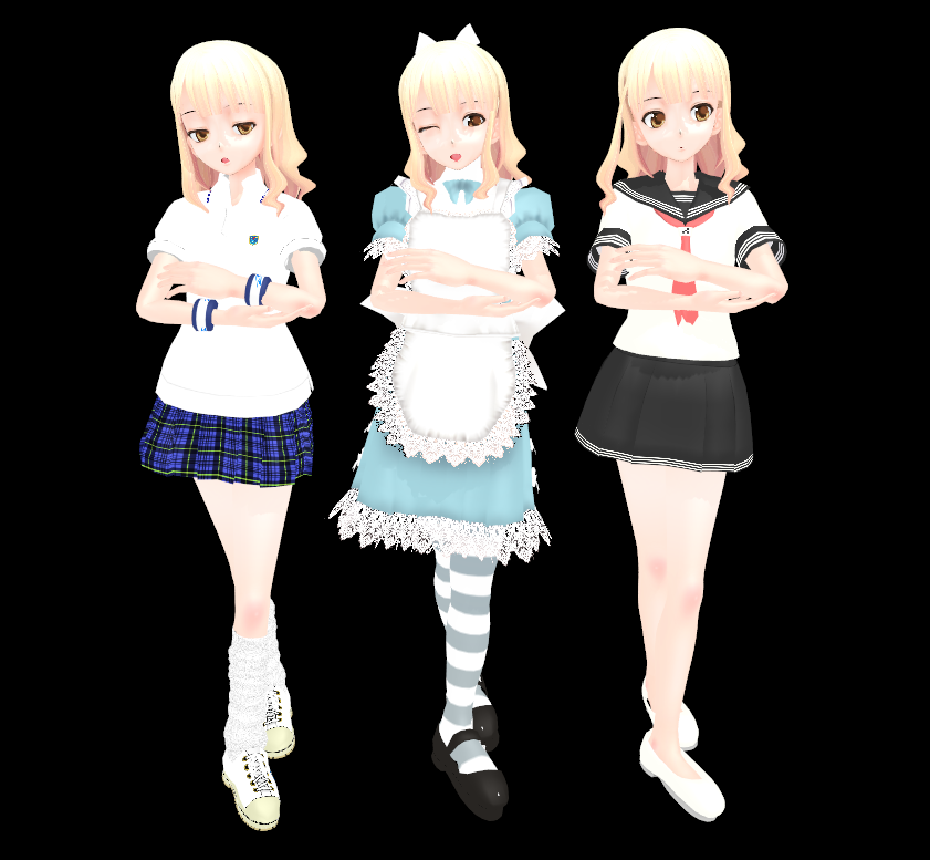 MMD: Unnamed OC by Nekofred