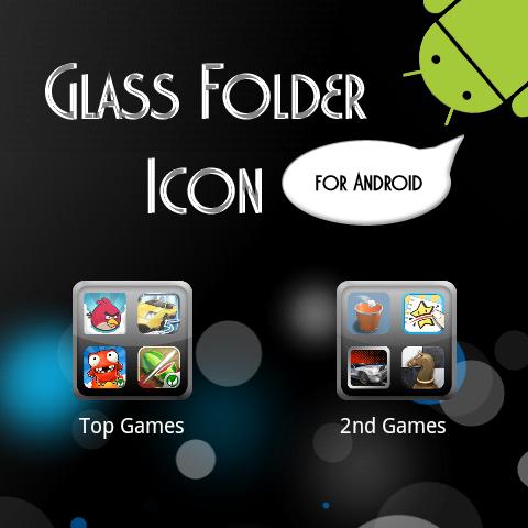 Glass Folder Icon Template by Dobloro