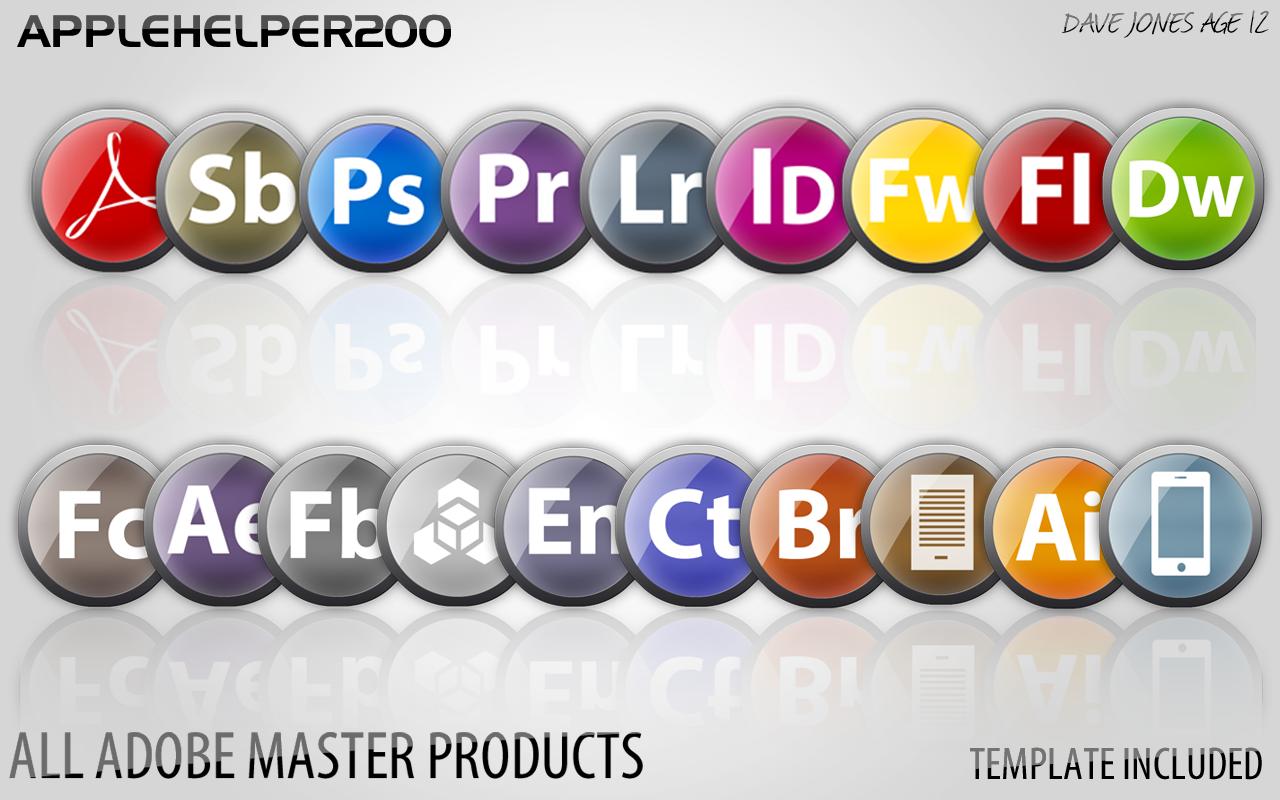 Glossy Round Adobe Icons by applehelper200