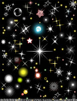 Star lights vector brushes2 by coolwing