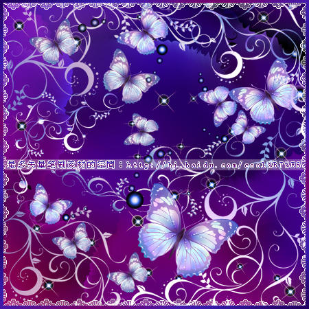 butterfly Flowers brushes by coolwing