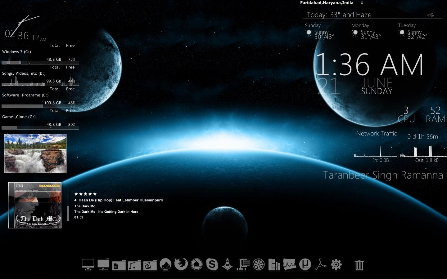Taranbeer Rainmeter by mani0008