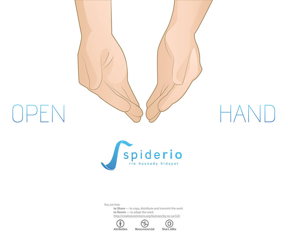 Open Give Hand Vector by spiderio